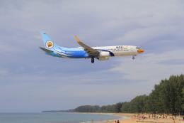 しかばねさんが、プーケット国際空港で撮影したノックエア 737-86Jの航空フォト(飛行機 写真・画像)