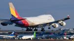 パンダさんが、成田国際空港で撮影したアシアナ航空 747-419(BDSF)の航空フォト(写真)