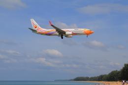 しかばねさんが、プーケット国際空港で撮影したノックエア 737-88Lの航空フォト(飛行機 写真・画像)