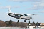 mogusaenさんが、調布飛行場で撮影した朝日航空 208 Caravan Iの航空フォト(飛行機 写真・画像)