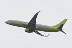 kuro2059さんが、関西国際空港で撮影したジンエアー 737-8Q8の航空フォト(飛行機 写真・画像)