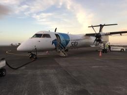 FlyHideさんが、ピコ空港で撮影したSATA  エア・アコーレス DHC-8-402Q Dash 8の航空フォト(飛行機 写真・画像)