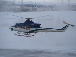ここはどこ?さんが、札幌飛行場で撮影した朝日航洋 412の航空フォト(飛行機 写真・画像)