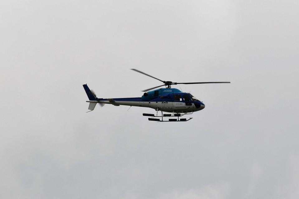 もぐ3さんのエクセル航空 Eurocopter AS355 Ecureuil 2/TwinStar (JA355E) 航空フォト