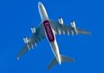 くれないさんが、徳島空港で撮影したエミレーツ航空 A380-861の航空フォト(飛行機 写真・画像)