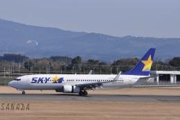 sanadaさんが、鹿児島空港で撮影したスカイマーク 737-86Nの航空フォト(飛行機 写真・画像)