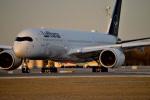 gomaさんが、ミュンヘン・フランツヨーゼフシュトラウス空港で撮影したルフトハンザドイツ航空 A350-941XWBの航空フォト(写真)