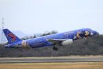 ピーチさんが、岡山空港で撮影した中国東方航空 A320-232の航空フォト(写真)