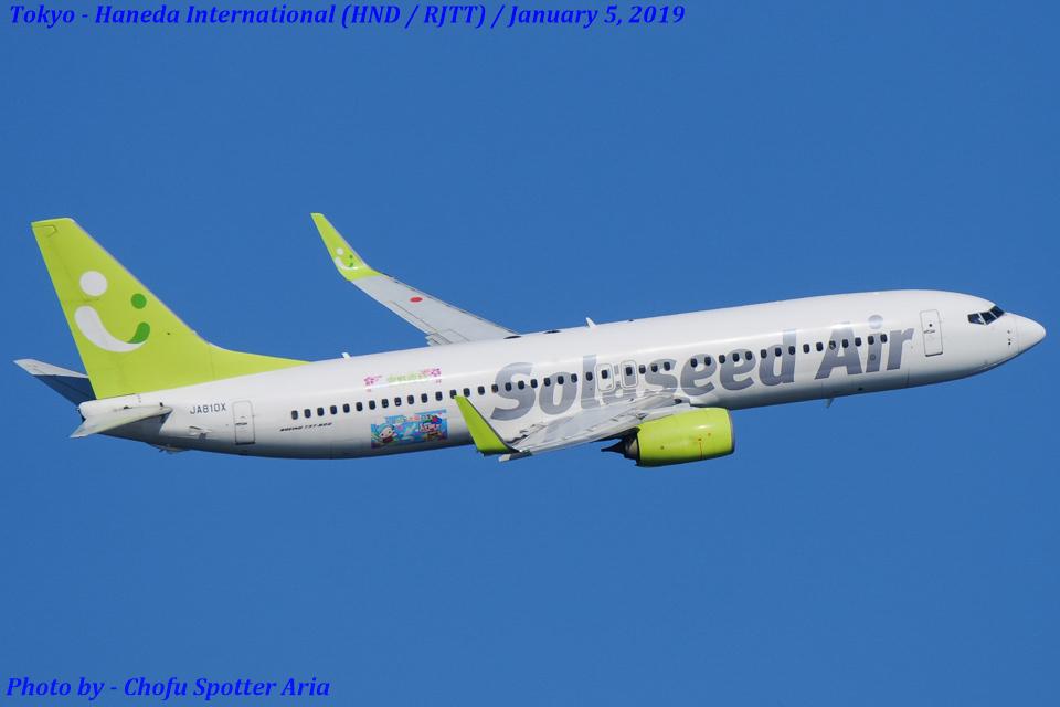 Chofu Spotter Ariaさんのソラシド エア Boeing 737-800 (JA810X) 航空フォト