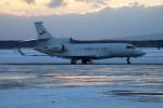 北の熊さんが、新千歳空港で撮影した金鹿航空 Falcon 7Xの航空フォト(写真)
