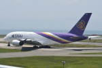 kuro2059さんが、関西国際空港で撮影したタイ国際航空 A380-841の航空フォト(飛行機 写真・画像)