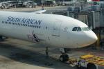 pringlesさんが、香港国際空港で撮影した南アフリカ航空 A340-642の航空フォト(写真)