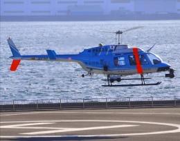 VICTER8929さんが、横浜ヘリポートで撮影した神奈川県警察 206L-4 LongRanger IVの航空フォト(飛行機 写真・画像)
