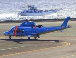 VICTER8929さんが、横浜ヘリポートで撮影した神奈川県警察 AW109SPの航空フォト(飛行機 写真・画像)