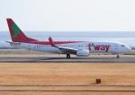 じーく。さんが、大分空港で撮影したティーウェイ航空 737-8Q8の航空フォト(飛行機 写真・画像)