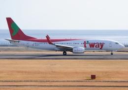 じーく。さんが、大分空港で撮影したティーウェイ航空 737-8Q8の航空フォト(写真)