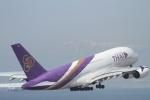 撮り空ひでさんが、中部国際空港で撮影したタイ国際航空 A380-841の航空フォト(写真)