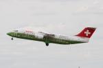 rjジジィさんが、デュッセルドルフ国際空港で撮影したスイスインターナショナルエアラインズ Avro 146-RJ100の航空フォト(写真)