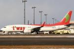 セブンさんが、新千歳空港で撮影したティーウェイ航空 737-8GJの航空フォト(飛行機 写真・画像)
