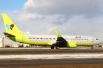 セブンさんが、新千歳空港で撮影したジンエアー 737-8B5の航空フォト(飛行機 写真・画像)