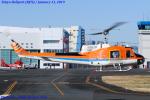 Chofu Spotter Ariaさんが、東京ヘリポートで撮影した新日本ヘリコプター 204B-2(FujiBell)の航空フォト(飛行機 写真・画像)