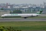 MOR1(新アカウント)さんが、福岡空港で撮影したエバー航空 MD-90-30の航空フォト(写真)