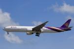 ★azusa★さんが、シンガポール・チャンギ国際空港で撮影したタイ国際航空 777-3D7の航空フォト(写真)