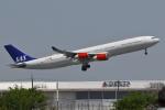 meskinさんが、成田国際空港で撮影したスカンジナビア航空 A340-313Xの航空フォト(写真)