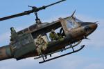 チャーリーマイクさんが、習志野演習場で撮影した陸上自衛隊 UH-1Jの航空フォト(写真)