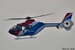 れんしさんが、北九州空港で撮影した毎日新聞社 EC135T1の航空フォト(写真)
