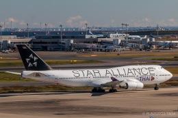 RUNWAY23.TADAさんが、羽田空港で撮影したタイ国際航空 747-4D7の航空フォト(写真)