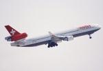 キイロイトリさんが、ロサンゼルス国際空港で撮影したスイスインターナショナルエアラインズ MD-11の航空フォト(写真)
