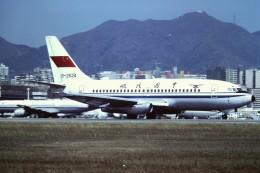tassさんが、啓徳空港で撮影した中國民航 737-25C/Advの航空フォト(飛行機 写真・画像)
