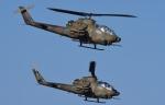 青い翼に鎧武者マークの!さんが、習志野演習場で撮影した陸上自衛隊 AH-1Sの航空フォト(写真)