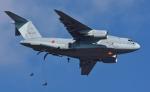 青い翼に鎧武者マークの!さんが、習志野演習場で撮影した航空自衛隊 C-2の航空フォト(写真)