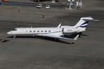 スポット110さんが、羽田空港で撮影したアメリカ企業所有 G-V-SP Gulfstream G550の航空フォト(写真)