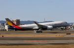 MOHICANさんが、福岡空港で撮影したアシアナ航空 A350-941XWBの航空フォト(写真)