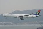 神宮寺ももさんが、香港国際空港で撮影した南アフリカ航空 A340-313Xの航空フォト(写真)