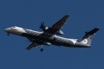 木人さんが、成田国際空港で撮影したオーロラ DHC-8-402Q Dash 8の航空フォト(写真)