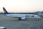 485k60さんが、福岡空港で撮影したスカイマーク 737-8HXの航空フォト(飛行機 写真・画像)