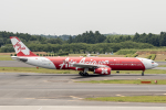 xingyeさんが、成田国際空港で撮影したインドネシア・エアアジア・エックス A330-343Xの航空フォト(写真)