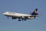 takoyanさんが、ロサンゼルス国際空港で撮影したルフトハンザ・カーゴ MD-11Fの航空フォト(写真)