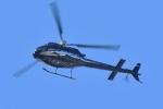 500さんが、自宅上空で撮影した日本法人所有 AS350B Ecureuilの航空フォト(写真)