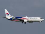 Mame @ TYOさんが、シンガポール・チャンギ国際空港で撮影したマレーシア航空 737-8H6の航空フォト(飛行機 写真・画像)