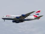 Mame @ TYOさんが、シンガポール・チャンギ国際空港で撮影したブリティッシュ・エアウェイズ A380-841の航空フォト(写真)