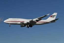takoyanさんが、ロサンゼルス国際空港で撮影したドバイ・ロイヤル・エア・ウィング 747-422の航空フォト(飛行機 写真・画像)