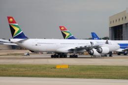 yabyanさんが、ロンドン・ヒースロー空港で撮影した南アフリカ航空 A340-642の航空フォト(飛行機 写真・画像)