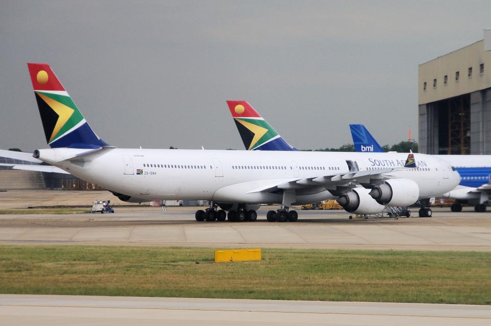 yabyanさんの南アフリカ航空 Airbus A340-600 (ZS-SNH) 航空フォト