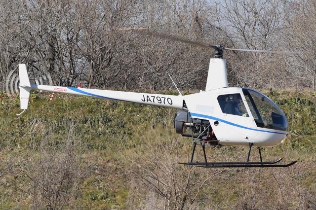 MOR1(新アカウント)さんが、前山下妻ヘリポートで撮影したアルファーアビエィション R22 Betaの航空フォト(飛行機 写真・画像)