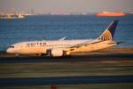 kamerajiijiさんが、羽田空港で撮影したユナイテッド航空 787-8 Dreamlinerの航空フォト(写真)